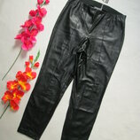 Шикарные брендовые укороченные стрейчевые брюки экокожа с начесиком Stehmann .