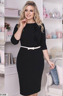 c95fb50f6dc Шикарное нарядное платье ткань креп-дайвинг яркие весенние цвета большие  размеры скл.1 арт