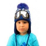 Оригинальные вязаные зимние шапки на мальчика 2,3,4,5,6 лет Сноубордист