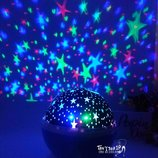 Ночник-Проектор звездное небо полусфера вращающийся светильник