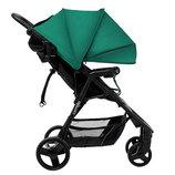 Коляска прогулочная CARRELLO Maestro CRL-1414 Golf Green с дождевиком зелёная