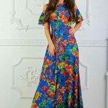 платье в пол Модель 388 42-44 44-46 46-48 48-50 ткань софт