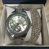 Женские часы Rolex, Pandora, Michael Kors с браслетом в комплекте