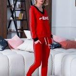 Спортивный костюм турецкая двунитка черный красный
