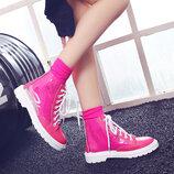 Шикарные силиконовые прозрачные ботинки В Наличии