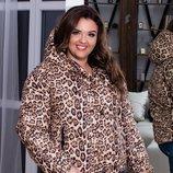 Куртка весна осень XL холлофайбер тигровый принт