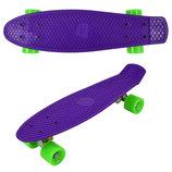 Скейт 780 Однотонный, Фиолетовый. цвета в ассортименте Best Board Penny board