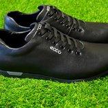 Мужские кроссовки из черной кожи Ecco