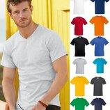 Мужская футболка с V-вырезом 100% Хлопок Fruit of the loom