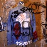 куртка граффити ручная работа ручная роспись слова надписи текст