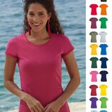 Женская футболка Тонкая 100% Хлопок Легкая Fruit of the Loom Original