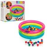 детский надувной бассейн с шариками Intex 48674