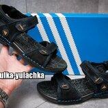 Кожаные мужские сандалии спортивного типа adidas
