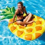 Пляжный надувной матрас плот Intex 58761 Ананас, 216 х 124 см
