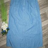 Летняя джинсовая юбка а-образного кроя M&S р.12