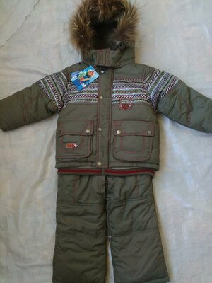 Зимний костюм комбинезон на мальчика Donilo от 1 до 2 лет 86-92 см тинсулейт