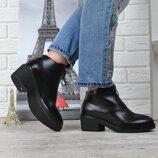 Кожаные Ботинки женские на каблуке Vicont Украина весна-осень