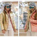 Стильная двухсторонняя куртка подросток девочке куртка дмисезонная на девочку