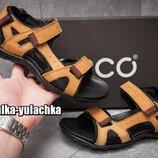 Кожаные сандалии в спортивном стиле Ecco на узкую стопу