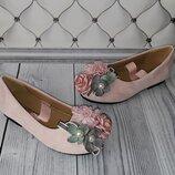 Розовые туфли девочке, шикарные туфли девочкам