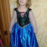 Карнавальное платье Анна из Холодное сердце на 5-6лет.