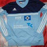 Спортивная оригинал футбольная кофта футболка Adidas ф.к Гамбург .6-8 лет . 140