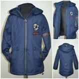 Куртка демисезонная удлинённая на флисе и синтепоне.Р-ры98-128. Венгрия GRACE
