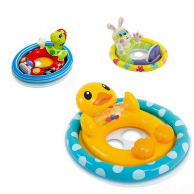Детский надувной плотик-райдер для плавания Intex 59570 71 х 58 см