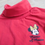 Гольф девочке 128 см красный Minnie Mouse Disney Дисней фирменный