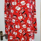 Новогоднее платье с сантой