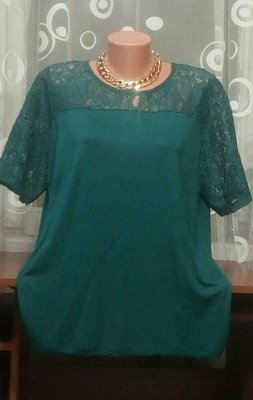 Шикарная Очень красивая блуза футболка Кружево р.20. NEXT