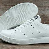 Мужские кожанные кроссовки Adidas Stan Smith