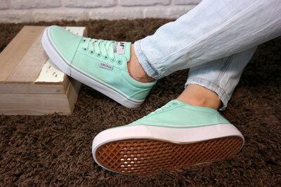 Женские повседневные кеды мятного цвета, крепкая и красивая обувь на каждый день