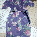 Платье Zara р.L цветочный принт.