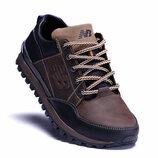 Мужские кожаные кроссовки New Balance Clasic Brown