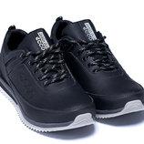 Мужские кожаные кроссовки туфли экко