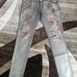 джинсы накат цветы Waggon