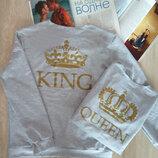 Стильный мужской трикотажный батник кофта свитшот King ткань двунитка арт.402 скл.10
