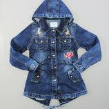 Джинсовая куртка на девочку подростка Вышивка