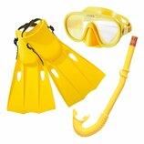 Набор для плавания Мастер Класс от 8 лет маска ласты трубка для ныряния дайвинг Интекс Intex 55655