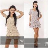 Акция Стильное мини платье-рубашка Цвета серый. Размеры 42 И 44 подойдут как для создания романти