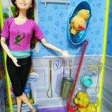 Кукла шарнирная типу Барби с собаками, питомцами YT033-2