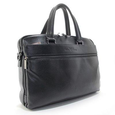 Портфель мужской кожаный для документов черный Giorgio Armani 9907-5