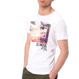 Мужская футболка белая Lc Waikiki / Лс Вайкики с надписью Quietness