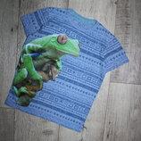 Стильная футболка синяя хамелеон некст Next 4-5 лет, рост 104-110 см.