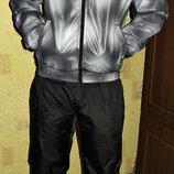 Спортивный костюм Adidas плащевка серый.