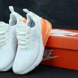 Женские кроссовки Nike Air Max 270 White Orange