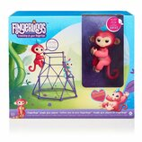 Fingerlings Wowwee Jungle Gym Interactive Baby Monkey Интерактивная ручная обезьянка набор джунгли