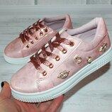 Новые модные кроссовки для девочки макасины кеды новинка весенние туфли