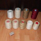 Нитки для вязания салфеток, скатертей и даже для пахлавы. Разные цвета.